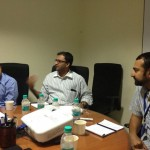 Discussion bw Vinay, Sridhar, Jose at Bangalore Round Table