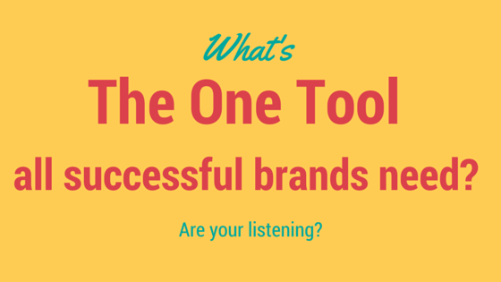 What's the one tool all successful