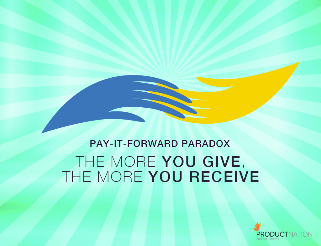 PAY-IT-FORWARD PARADOX… The More You Give, The More You Receive