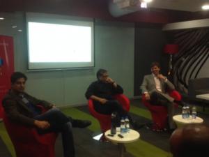 (L-R): Sanat Rao, Partner, iSPiRT M&A Connect; Ravi Narayan, Director of Microsoft Ventures, India; Klaas Oskam, Managing Director, Signal Hill